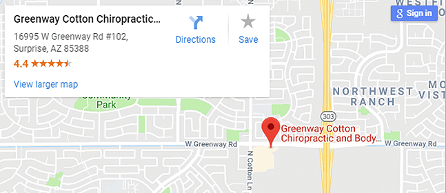 Map of Surprise AZ Chiropractors