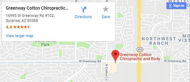 Map of Surprise AZ Chiropractors