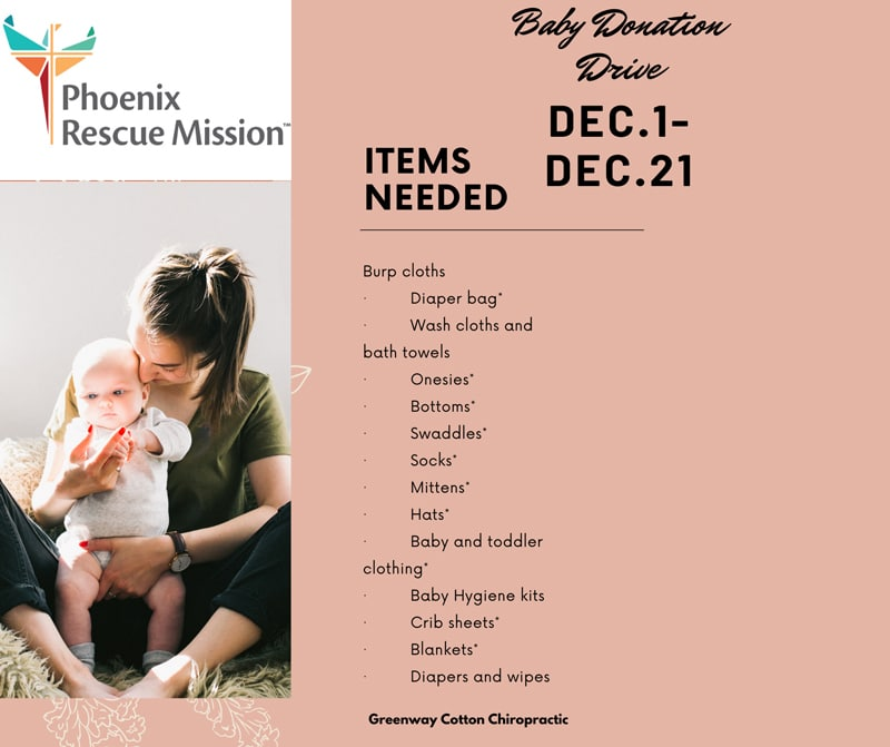 Phoenix Rescue Mission at Greenway Cotton Chiropractic and Body Harmony Massage