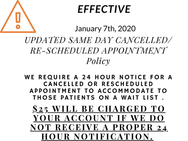 Chiropractic Cancellation Policy